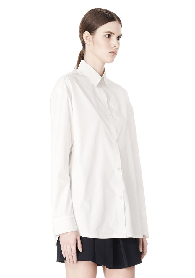 ALEXANDER WANG OVERSIZED DRESS SHIRT TOP  12_n_a