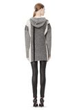 T by ALEXANDER WANG BOILED TWEED STRIPE BAJA HOODIE TOP Adult 8_n_r