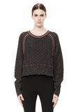 T by ALEXANDER WANG MERINO BLEND PULLOVER WITH RIB DETAIL TOP Adult 8_n_e