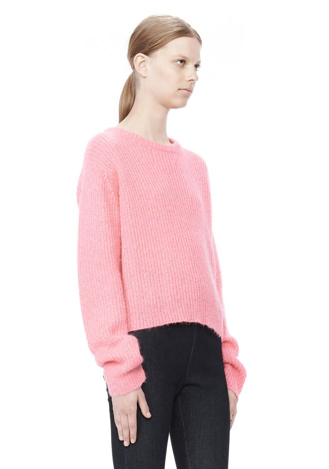 T by ALEXANDER WANG MOHAIR KNIT PULLOVER TOP Adult 12_n_a