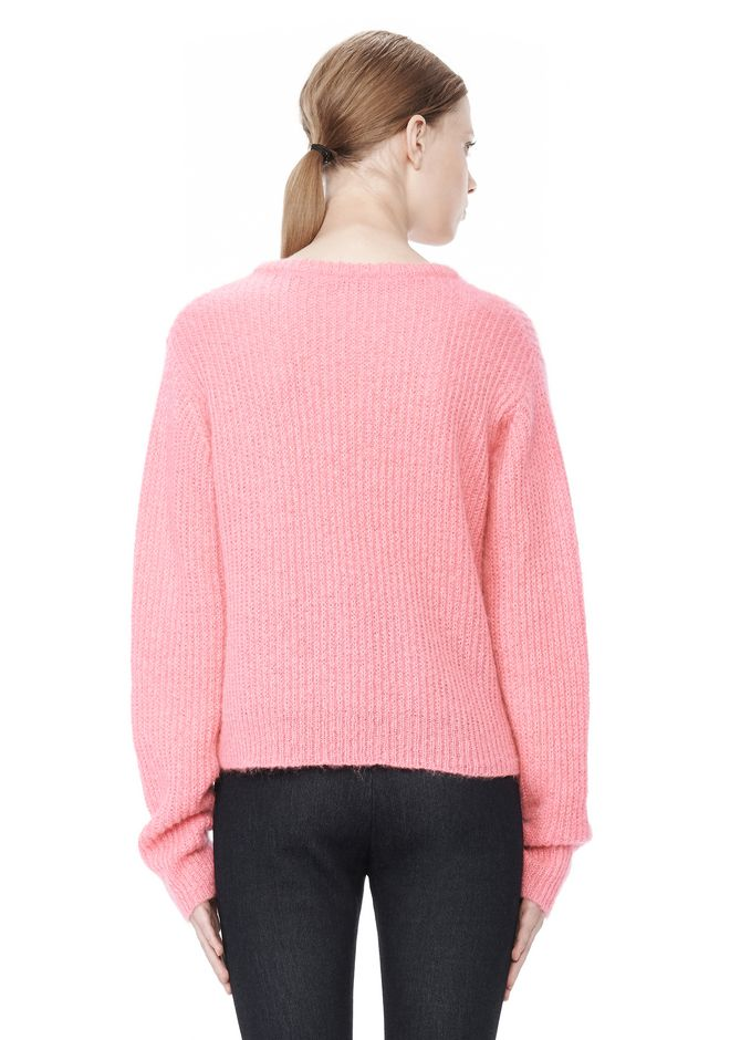 T by ALEXANDER WANG MOHAIR KNIT PULLOVER TOP Adult 12_n_d