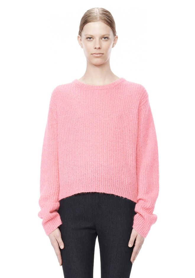 T by ALEXANDER WANG MOHAIR KNIT PULLOVER TOP Adult 12_n_e
