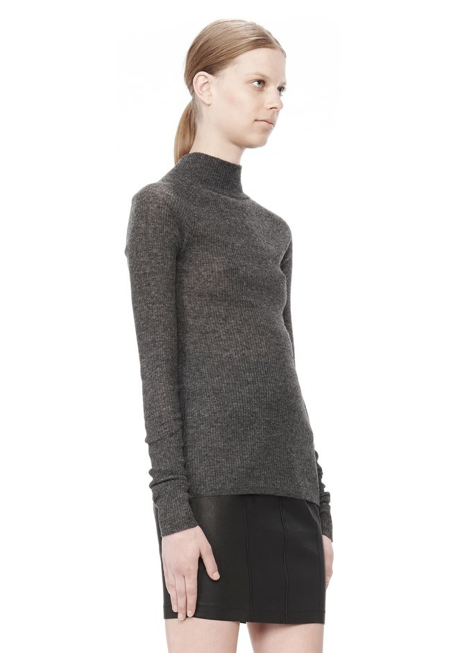 T by ALEXANDER WANG ALPACA LONG SLEEVE TURTLENECK SWEATER TOP Adult 12_n_a