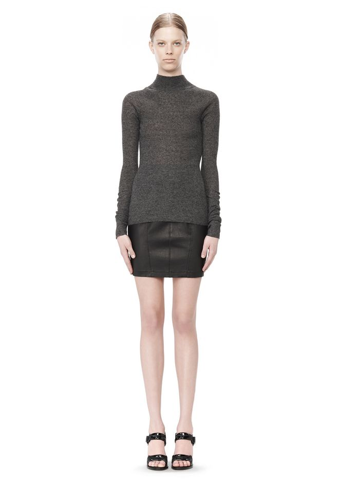 T by ALEXANDER WANG ALPACA LONG SLEEVE TURTLENECK SWEATER TOP Adult 12_n_f