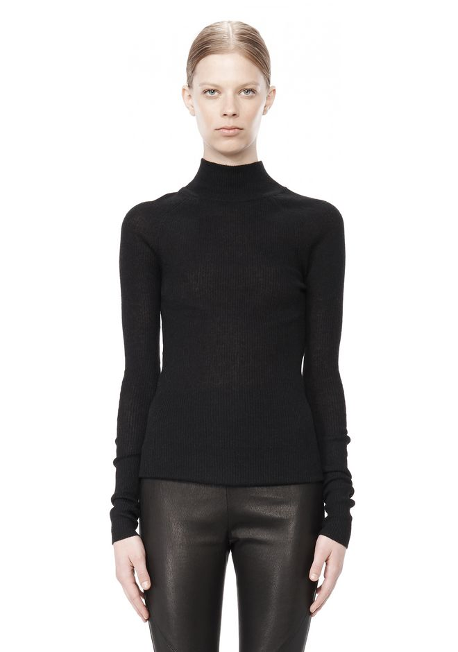 T by ALEXANDER WANG ALPACA LONG SLEEVE TURTLENECK SWEATER TOP Adult 12_n_e