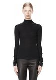T by ALEXANDER WANG ALPACA LONG SLEEVE TURTLENECK SWEATER TOP Adult 8_n_e