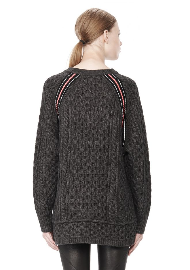 T by ALEXANDER WANG MERINO BLEND TUNIC WITH RIB DETAIL TOP Adult 12_n_d