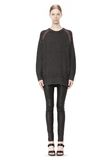 T by ALEXANDER WANG MERINO BLEND TUNIC WITH RIB DETAIL TOP Adult 8_n_f