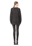 T by ALEXANDER WANG MERINO BLEND TUNIC WITH RIB DETAIL TOP Adult 8_n_r