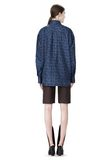 ALEXANDER WANG DOUBLE LAYER OVERSIZED MEN'S SHIRT TOP Adult 8_n_r