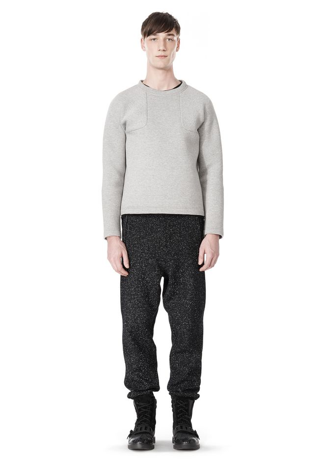 T by ALEXANDER WANG CREWNECK NEOPRENE SWEATSHIRT