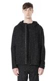 T by ALEXANDER WANG BOUCLE FLEECE HOODED JACKET TOP Adult 8_n_e