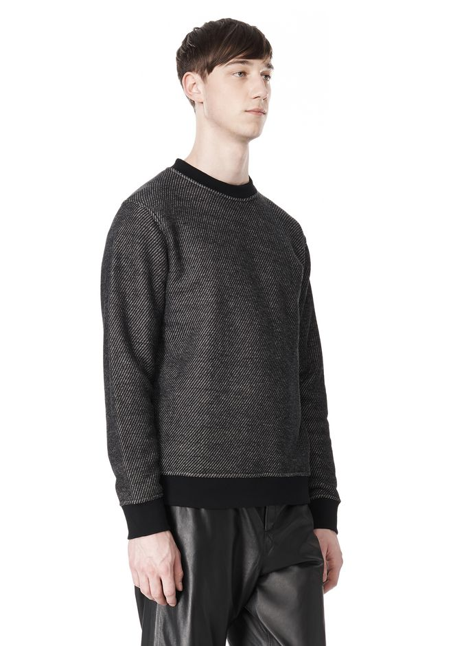 T by ALEXANDER WANG COTTON TWILL KNIT FRENCH TERRY SWEATSHIRT TOP Adult 12_n_a