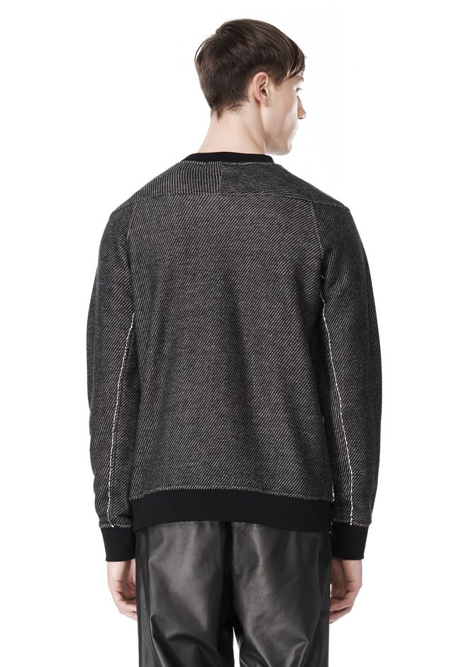 T by ALEXANDER WANG COTTON TWILL KNIT FRENCH TERRY SWEATSHIRT TOP Adult 12_n_d