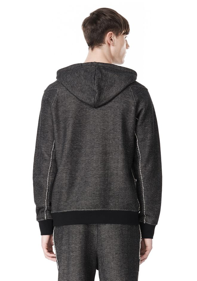 T by ALEXANDER WANG COTTON TWILL KNIT FRENCH TERRY HOODIE TOP Adult 12_n_d