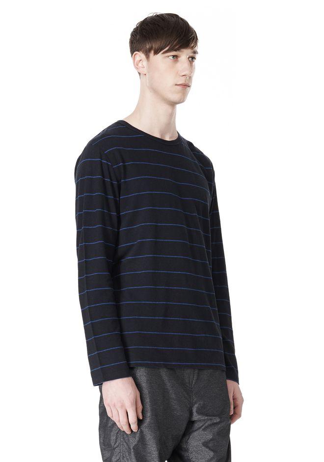 T by ALEXANDER WANG LINEN COTTON STRIPE JERSEY LONG SLEEVE TEE Long sleeve t-shirt Adult 12_n_a
