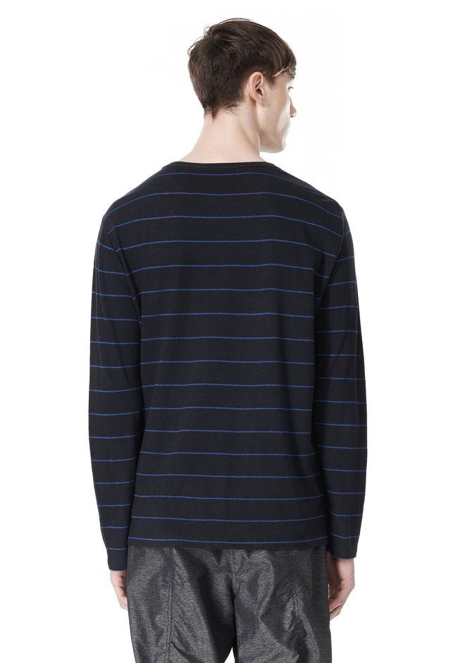T by ALEXANDER WANG LINEN COTTON STRIPE JERSEY LONG SLEEVE TEE Long sleeve t-shirt Adult 12_n_d