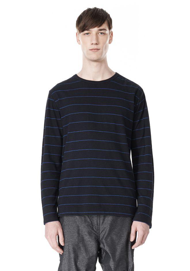 T by ALEXANDER WANG LINEN COTTON STRIPE JERSEY LONG SLEEVE TEE Long sleeve t-shirt Adult 12_n_e
