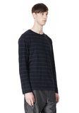 T by ALEXANDER WANG LINEN COTTON STRIPE JERSEY LONG SLEEVE TEE Long sleeve t-shirt Adult 8_n_a
