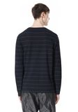 LINEN COTTON STRIPE JERSEY LONG SLEEVE TEE