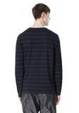 T by ALEXANDER WANG LINEN COTTON STRIPE JERSEY LONG SLEEVE TEE Long sleeve t-shirt Adult 8_n_d