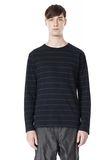 T by ALEXANDER WANG LINEN COTTON STRIPE JERSEY LONG SLEEVE TEE Long sleeve t-shirt Adult 8_n_e