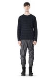 T by ALEXANDER WANG LINEN COTTON STRIPE JERSEY LONG SLEEVE TEE Long sleeve t-shirt Adult 8_n_f