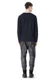 T by ALEXANDER WANG LINEN COTTON STRIPE JERSEY LONG SLEEVE TEE Long sleeve t-shirt Adult 8_n_r