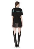 ALEXANDER WANG CREWNECK TEE WITH BONDED HEARTBEAT GRAPHIC Short sleeve t-shirt Adult 8_n_r