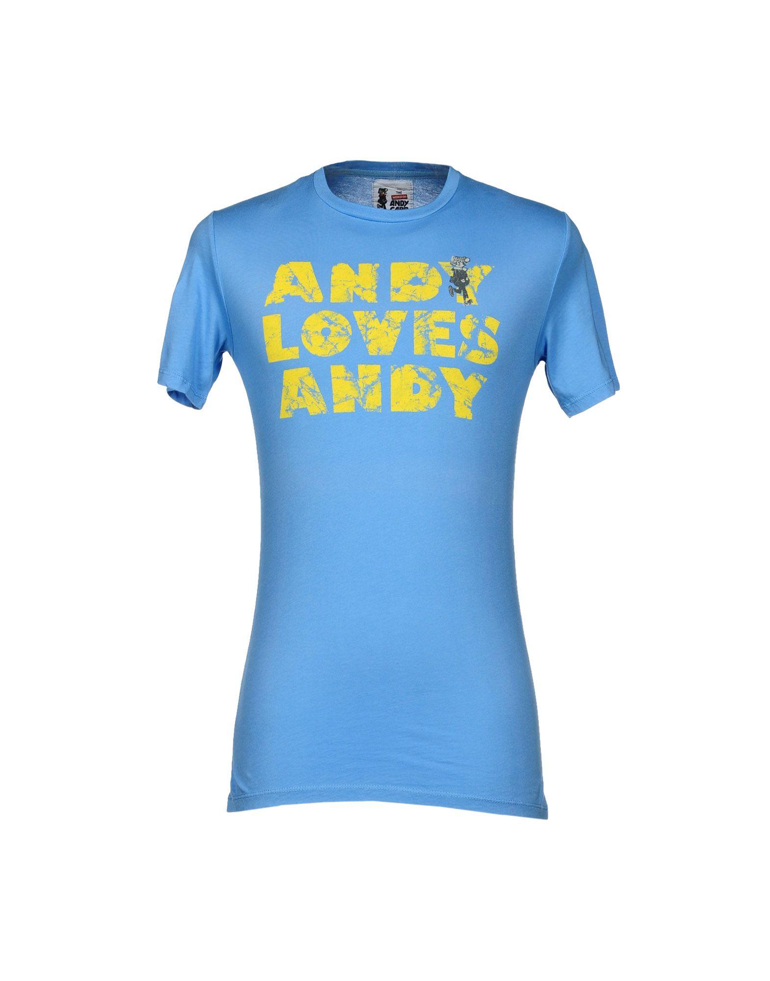THE WORLD OF ANDY CAPP BY GECO BRAND Herren T-shirts Farbe Azurblau Größe 4