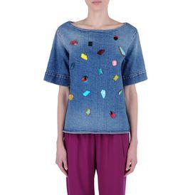 STELLA McCARTNEY, T-shirt, T-shirt avec pierres brodées