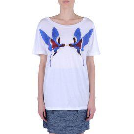 STELLA McCARTNEY, T-shirt, T-shirt avec imprimé hirondelles