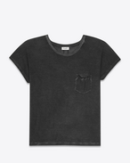 CLASSIC DEEP CREWNECK T SHIRT IN BLACK Garment Dyed Cotton Jersey