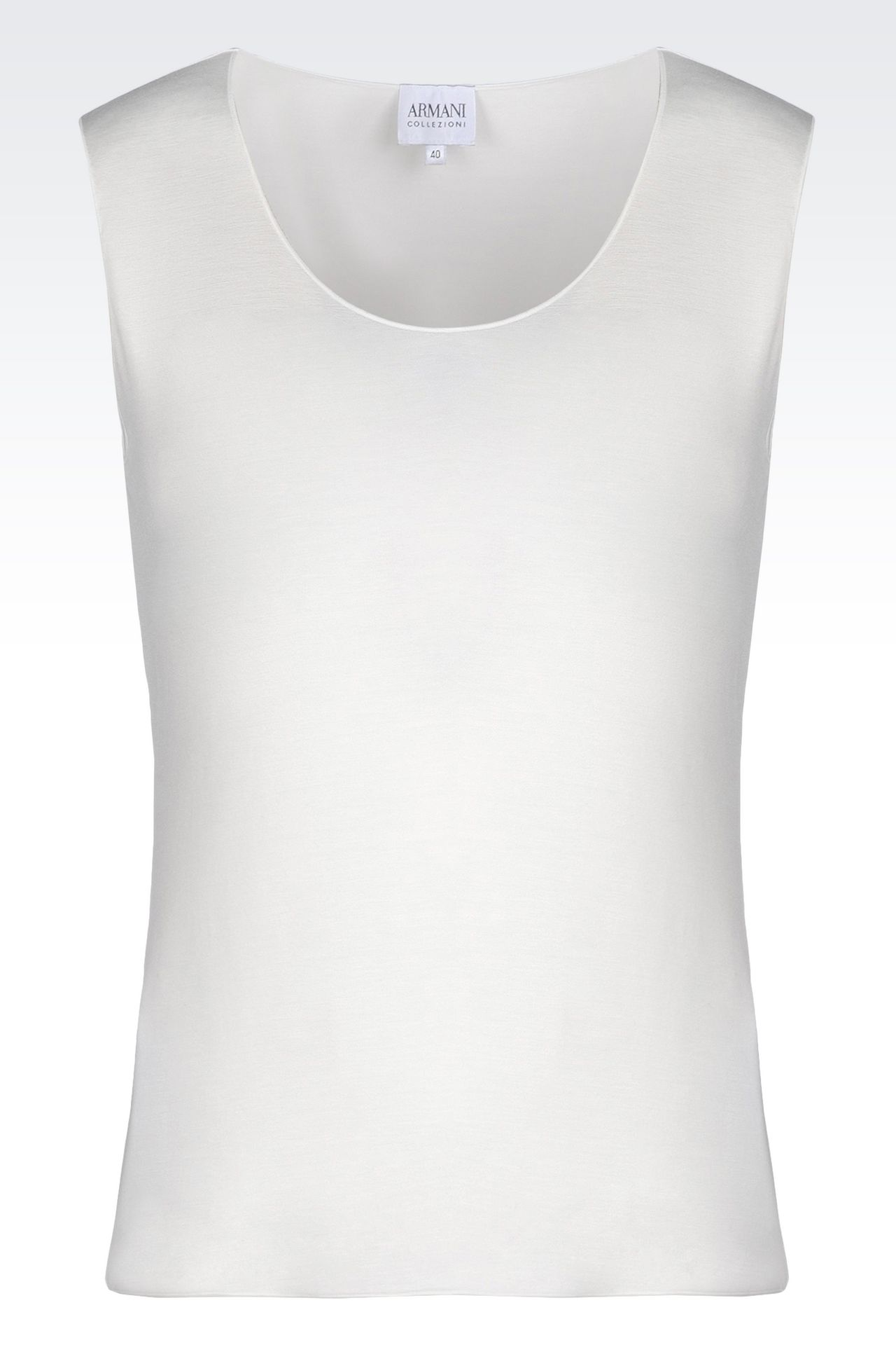 TOP IN STRETCH VISCOSE: Sleeveless tops Women by Armani - 0