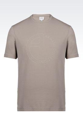 Armani T-shirts imprimés Homme t-shirt en jersey satiné