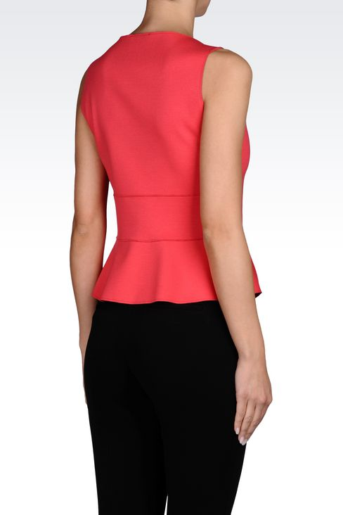TOP IN NEOPRENE: Sleeveless tops Women by Armani - 3