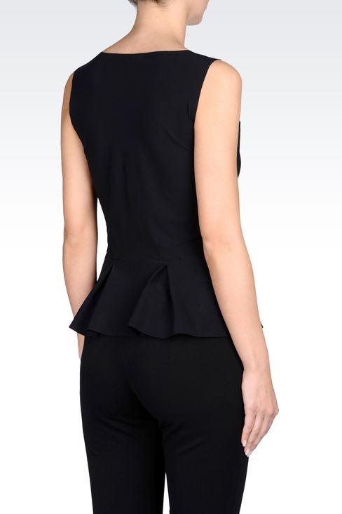 PEPLUM TOP IN TECHNICAL FABRIC: Sleeveless tops Women by Armani - 3