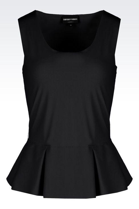 PEPLUM TOP IN TECHNICAL FABRIC: Sleeveless tops Women by Armani - 1