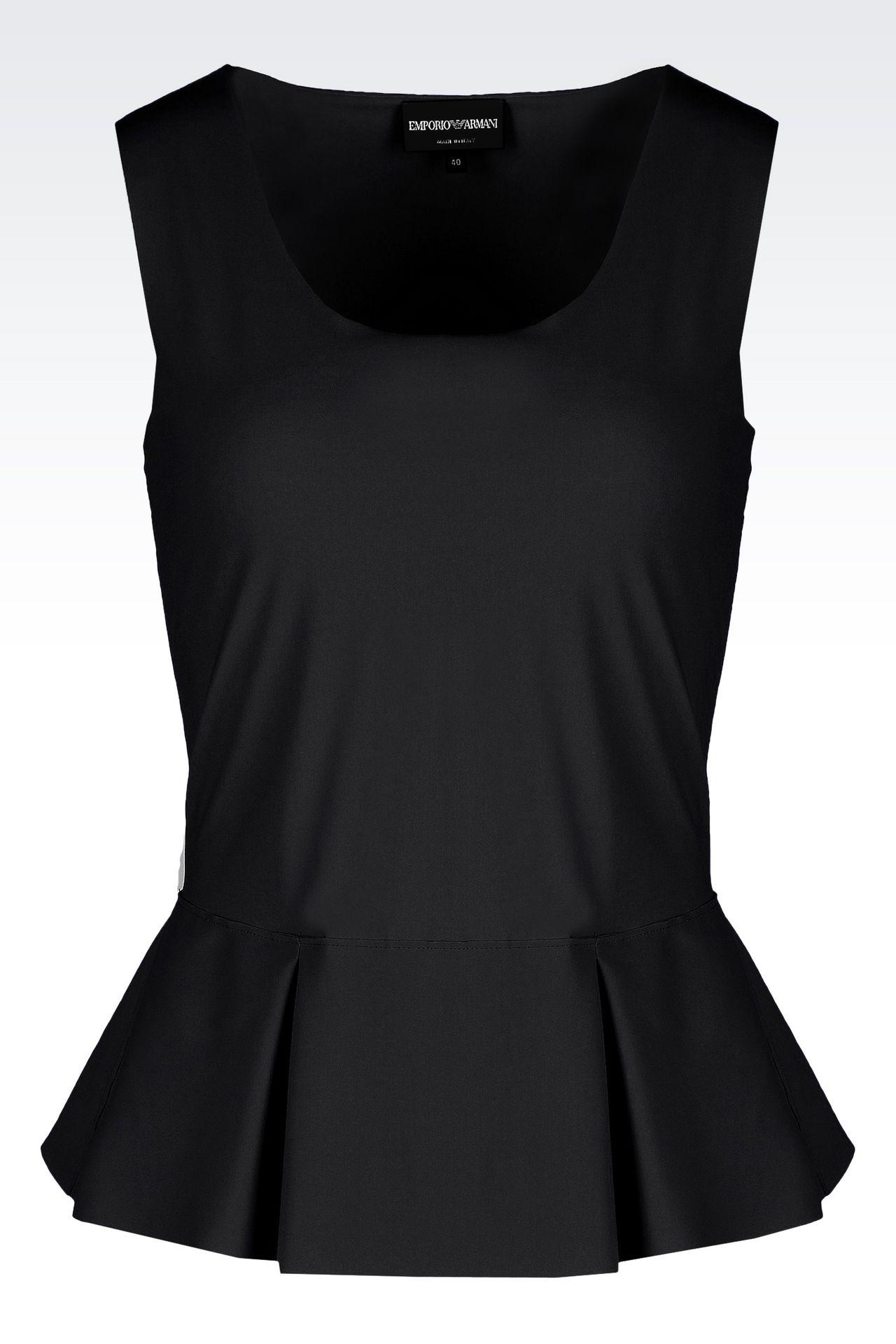 PEPLUM TOP IN TECHNICAL FABRIC: Sleeveless tops Women by Armani - 0