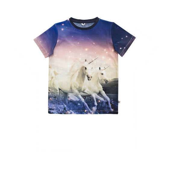 t shirt arlo mit einhorn print stella mccartney kids. Black Bedroom Furniture Sets. Home Design Ideas