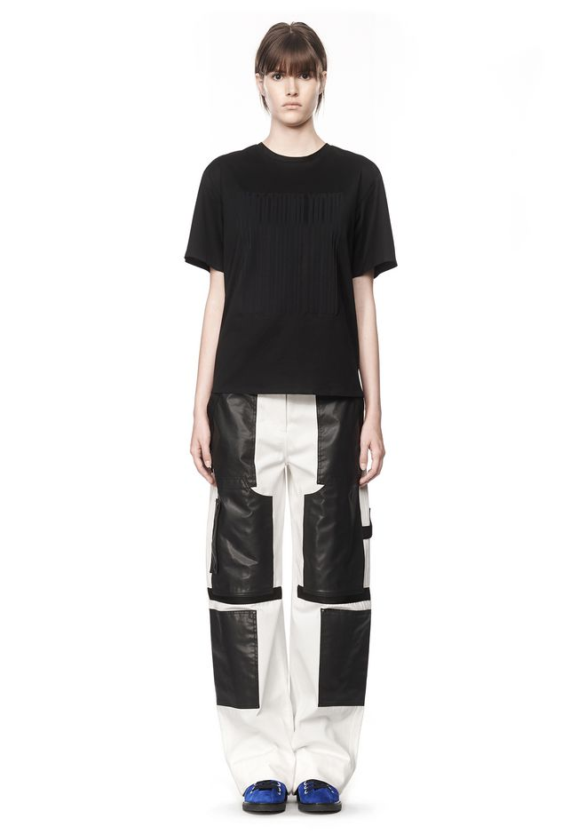 ALEXANDER WANG  T-SHIRT WITH BARCODE LOGO