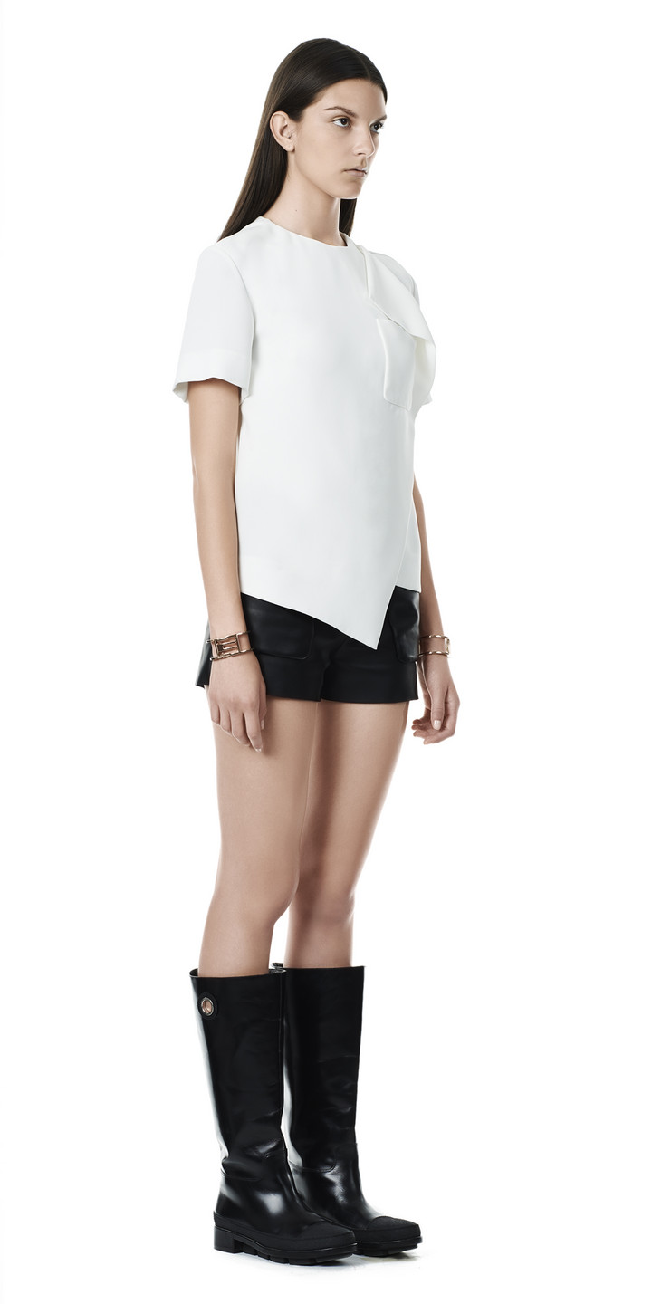 Balenciaga Overlap Short Sleeves Top