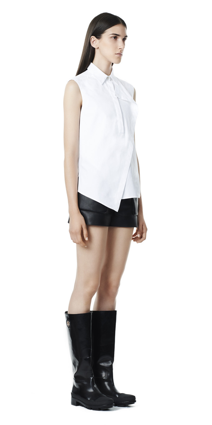 Balenciaga Overlap Sleeveless Shirt