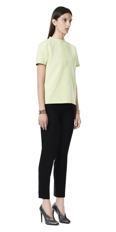 Balenciaga Embossed Short Sleeves Top