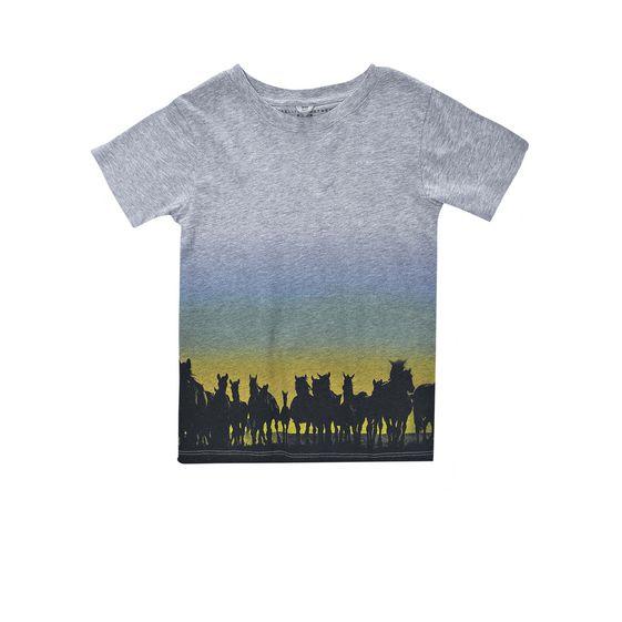 STELLA McCARTNEY KIDS, T-Shirts, Arlo Horses T-shirt