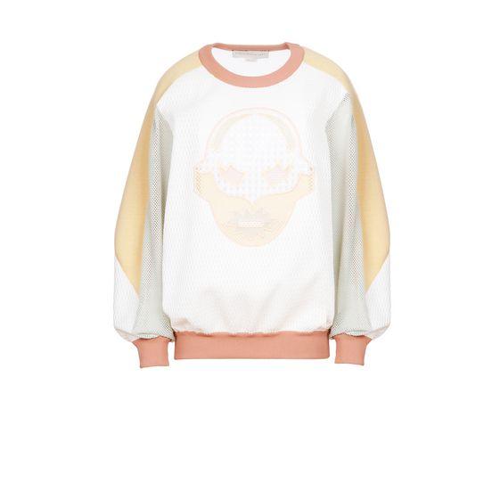STELLA McCARTNEY, Sweatshirt à manches longues, Sweat-shirt à col ras de cou Superstellaheroes