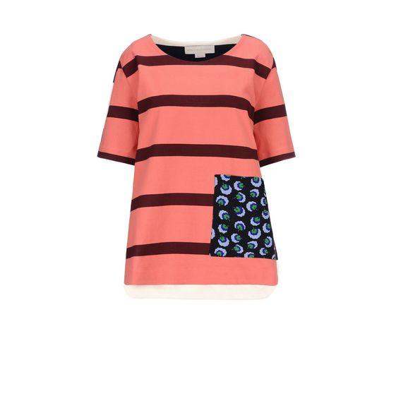 STELLA McCARTNEY, T-shirt, T-shirt rayé style rugby