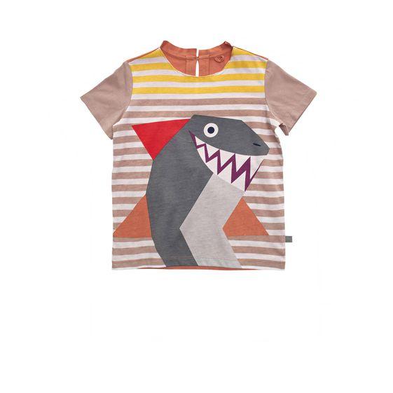 STELLA McCARTNEY KIDS, T-Shirts, ISLA SHARK T-SHIRT