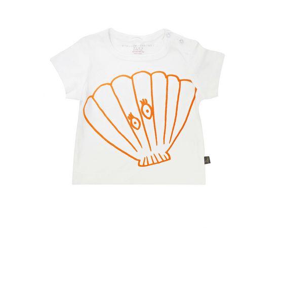 STELLA McCARTNEY KIDS, T-Shirts, CHUCKLE SHELL T-SHIRT