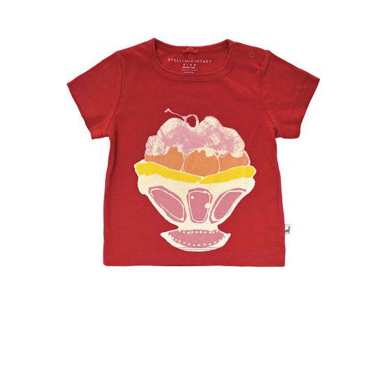 STELLA McCARTNEY KIDS, T-Shirts, CHUCKLE ICE CREAM T-SHIRT
